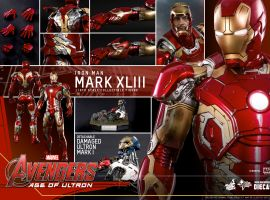 Marvel's Avengers: Age of Ultron 1/6th scale Iron Man Mark XLIII Collectible Figure From Hot Toys