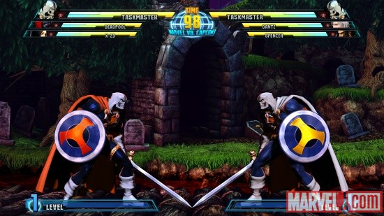 Marvel vs. Capcom 3 screenshot: Taskmaster vs. Taskmaster