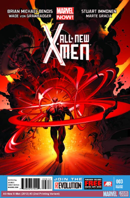 ALL-NEW X-MEN 3 2ND PRINTING VARIANT