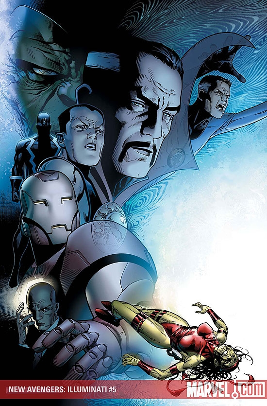 New Avengers: Illuminati #5 cover by Jim Cheung