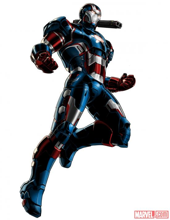 War Machine (Iron Patriot alternate costume) character model from Marvel: Avengers Alliance