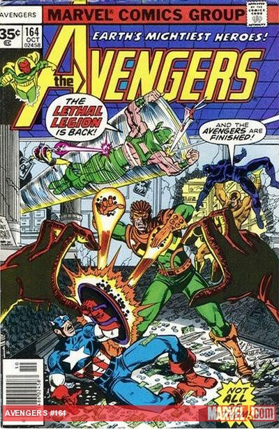 Avengers #164 cover by George Perez