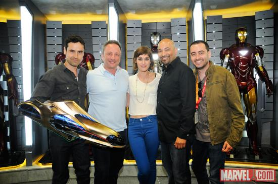 SDCC 2012: Jesse Bradford, Louis D'Esposito, Lizzy Caplan, Maximiliano Hernández and Brad Winderbaum on the Marvel Stage
