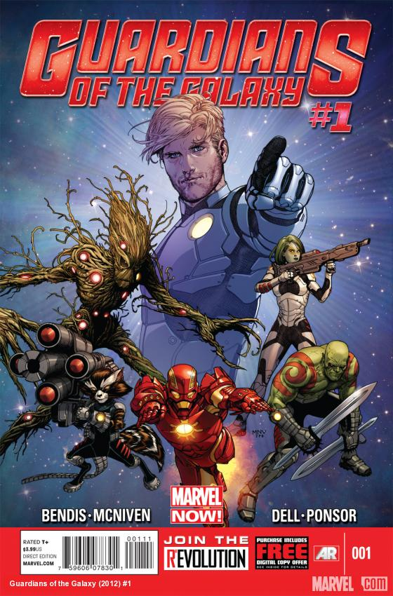 Guardians of the Galaxy #1 cover art by Steve McNiven