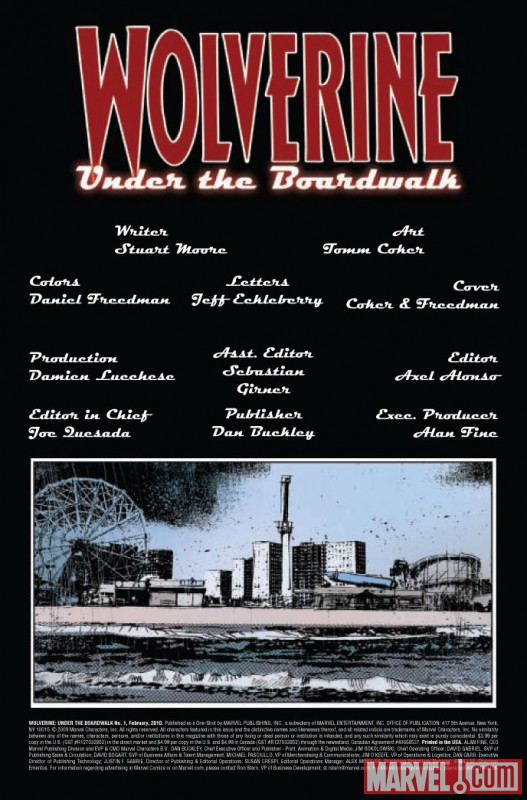 Wolverine: Under the Boardwalk One-Shot (2009) #1