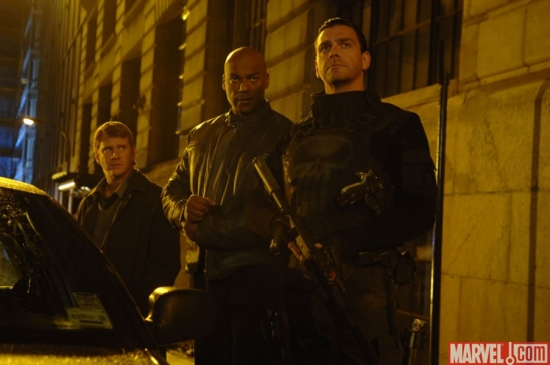 (L to R) Det. Soap, Agent Budiansky, Frank Castle