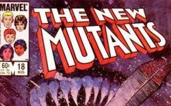 NEW MUTANTS #18 cover by Bill Sienkiewicz