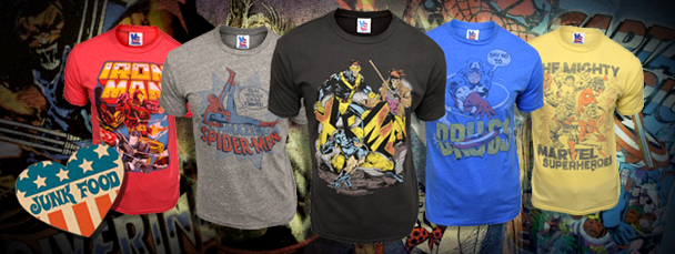 Junk Food Clothing: Marvel Super Hero Tees