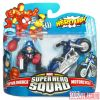 Captain America (Bucky) and motorcycle Marvel Super Hero Squad toy two-pack