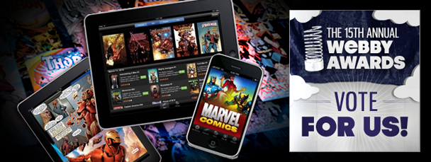 Webby Awards: Vote for the Marvel Comics App