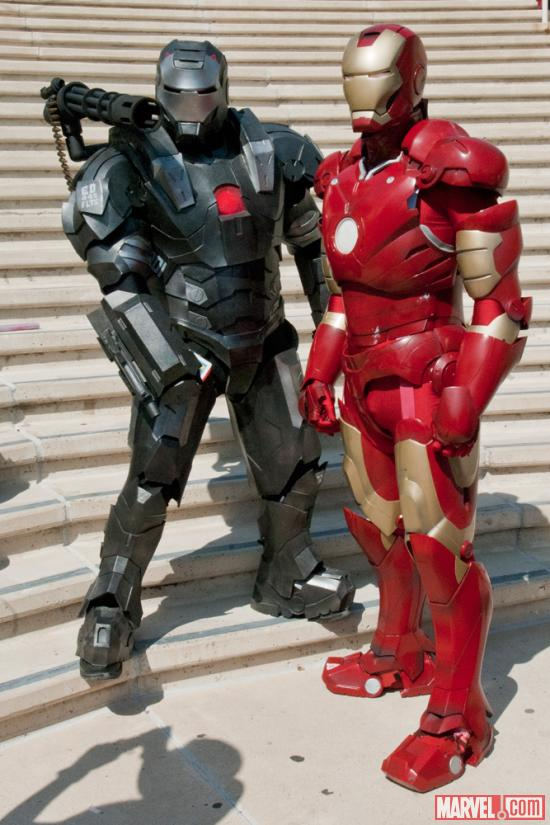 SDCC 2012: Iron Man & War Machine costumers at the Marvel Gathering