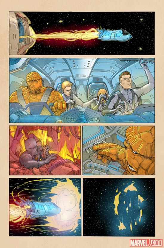 Fantastic Four #5AU Preview Art