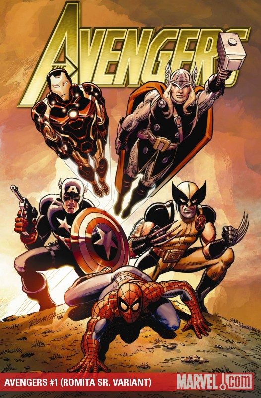 Avengers (2010) #1 (ROMITA SR. VARIANT)
