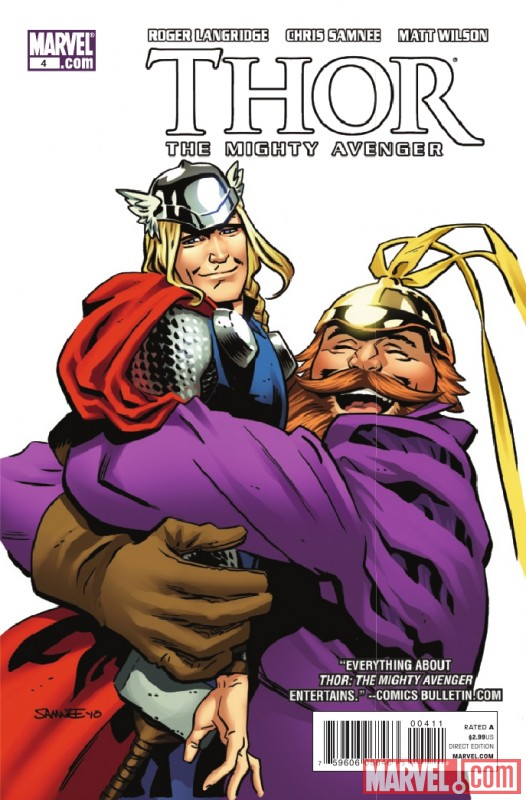 THOR: THE MIGHTY AVENGER #4 cover art by Chris Samnee