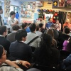 Tom Brevoort, Nick Lowe, Mark Paniccia, Axel Alonso, and C.B. Cebulski with fans at Midtown Comics' Meet the Publishers