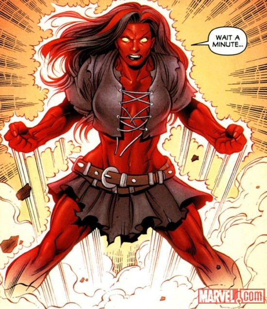 Red She-Hulk by Paul Pelletier