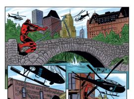 Daredevil #17 preview art by Michael Allred