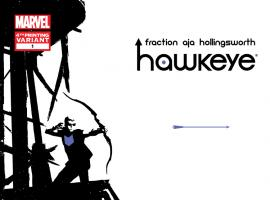 cover from Hawkeye (2012) #1 (AJA 4TH PRINTING VARIANT)