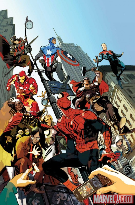 Image Featuring Black Knight, Captain Britain, Iron Man, Thor, The Winter Soldier, Pete Wisdom, MI: 13