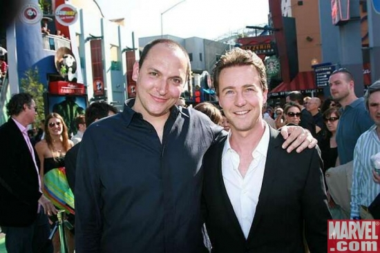 Director Louis Leterrier and Edward Norton