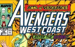 Avengers West Coast #53 cover by John Byrne