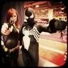 FanExpo 2011: Black Widow and Spider-Man Cosplayers