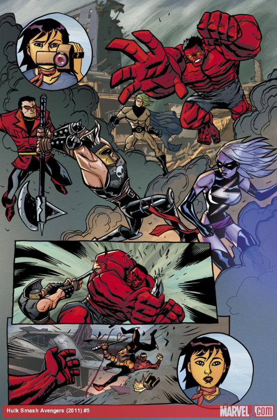 Hulk Smash Avengers #5 preview art by Michael Avon Oeming