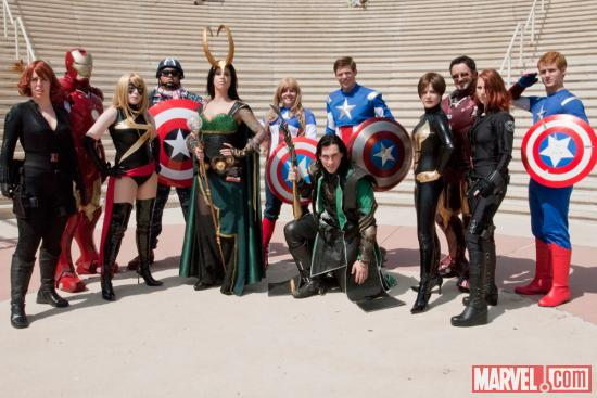 SDCC 2012: Marvel Costume Gathering