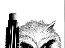 Guardians of the Galaxy (2013) #3 black and white cover by Steve McNiven