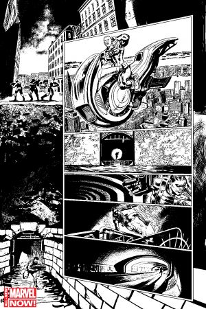 All-New Invaders #1 preview inks by Steve Pugh