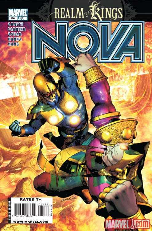 NOVA #34 Cover by Brandon Peterson