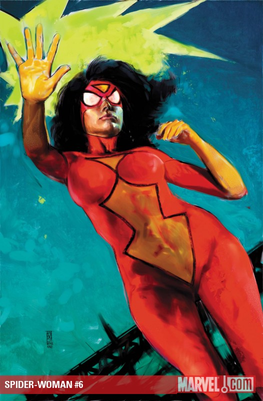 Spider-Woman (2009) #6 cover by Alex Maleev