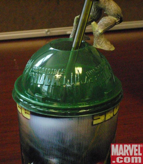 Incredible Hulk plastic lid for novelty cup