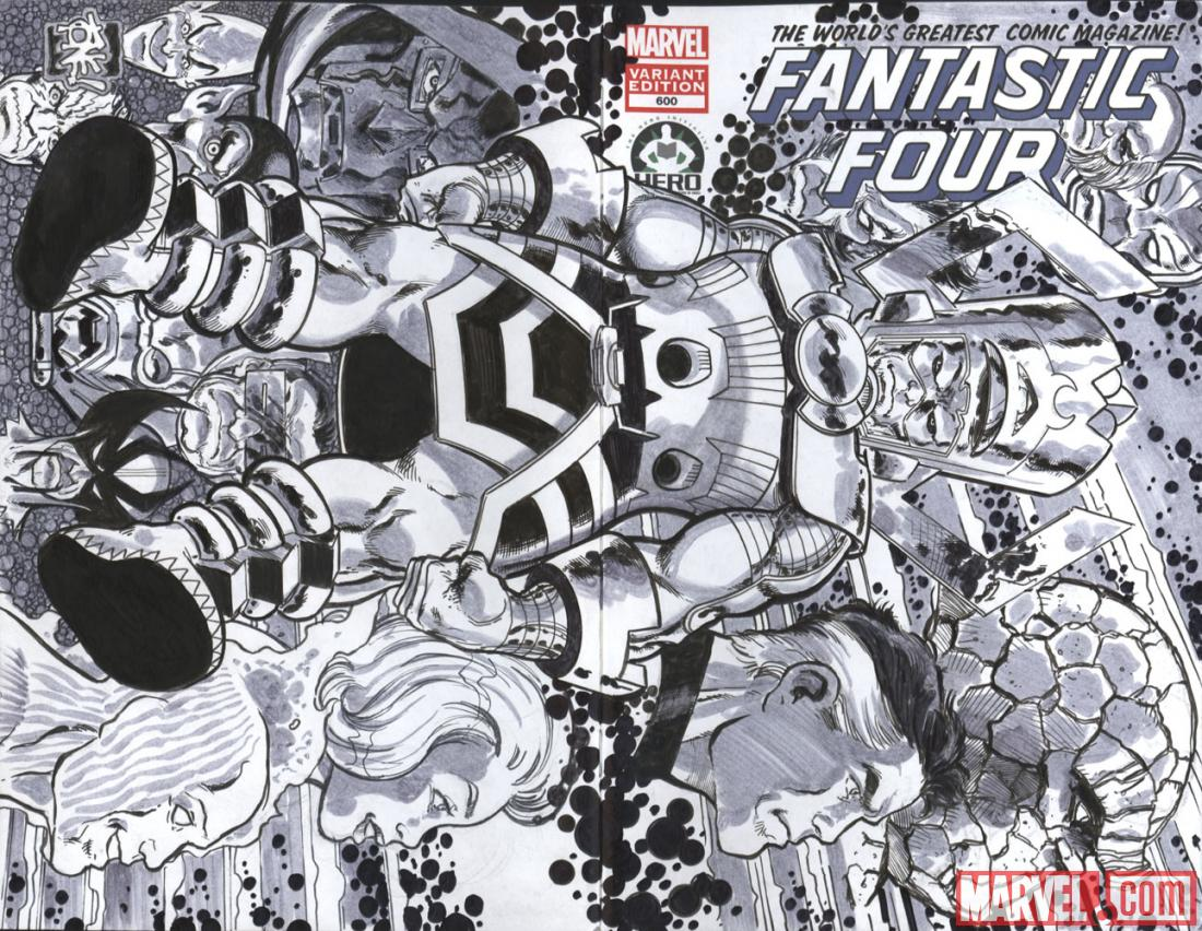 Fantastic Four #600 Hero Initiative variant cover by Tone Rodriguez (II)
