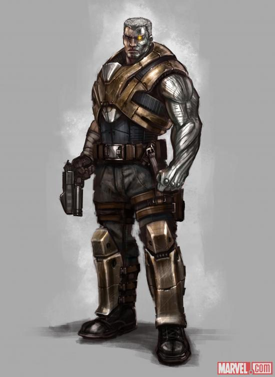 A concept design for Cable in the Deadpool video game