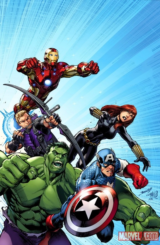 Avengers Assemble #1 cover by Mark Bagley