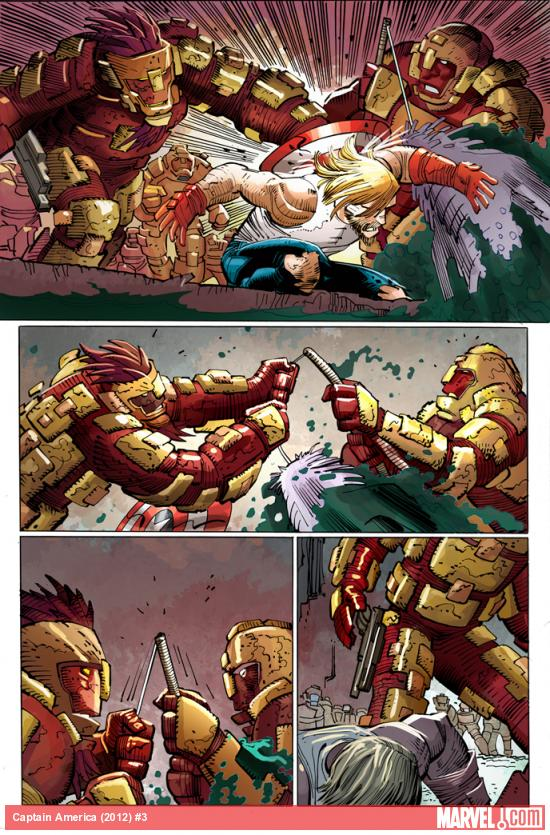 Captain America (2012) #3 preview art by John Romita Jr.