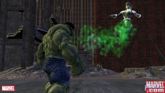 Hulk vs. U-Foes member Vapor