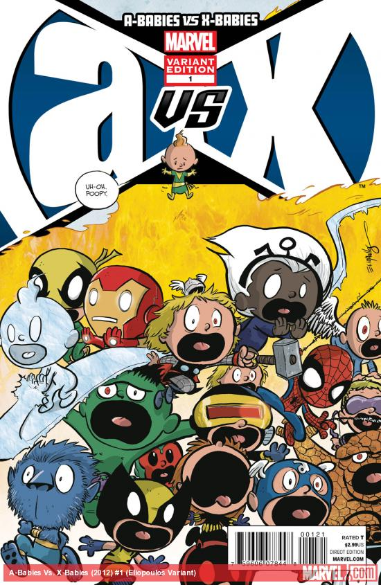 A-Babies vs. X-Babies #1 variant cover by Chris Eliopoulos