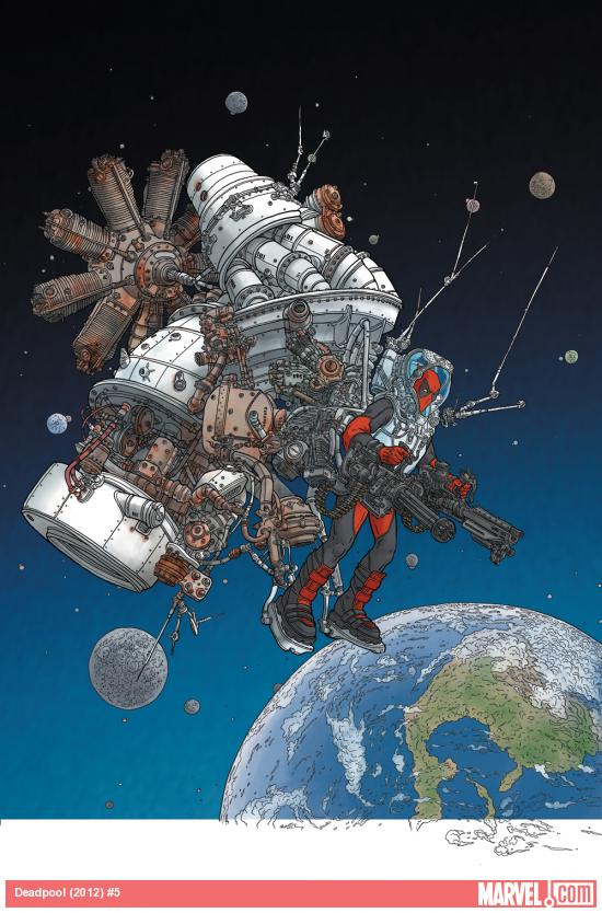 Deadpool (2012) #5 cover by Geof Darrow