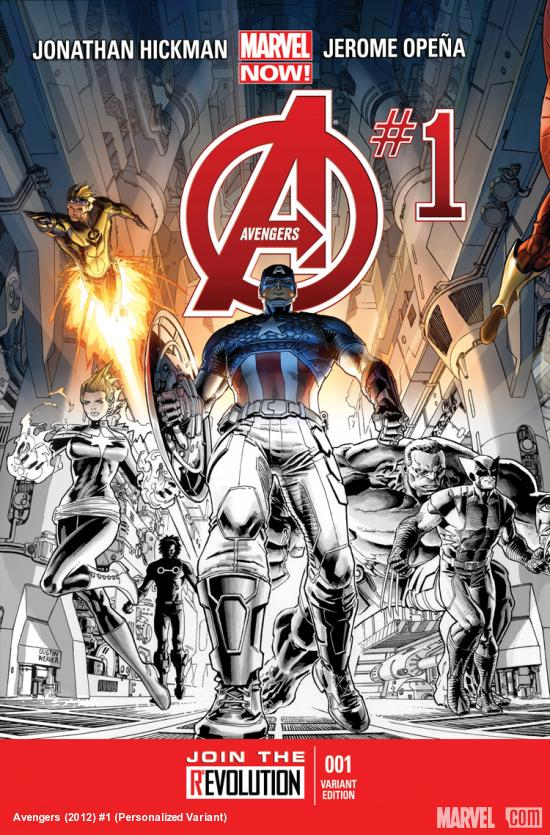 cover from Avengers (2012) #1 (PERSONALIZED VARIANT)