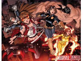 Image Featuring Spider-Girl (Anya Corazon), Firestar, Gravity