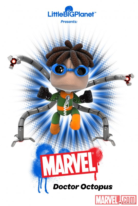 LittleBigPlanet Doctor Octopus poster - Marvel.com exclusive
