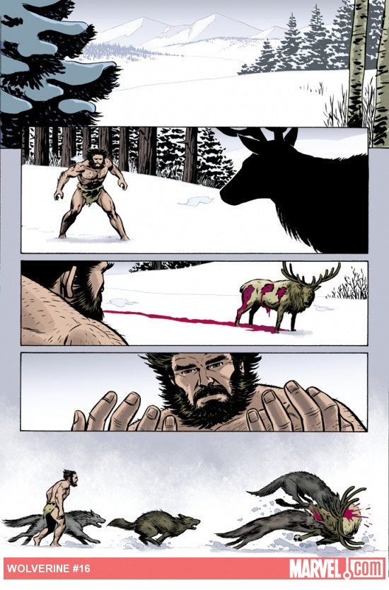 Wolverine (2010) #16 preview art by Goran Sudzuka