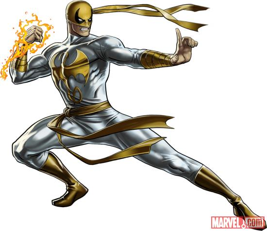 Iron Fist (alternate costume) character model from Marvel: Avengers Alliance