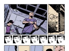 Hawkeye #2 preview art by David Aja