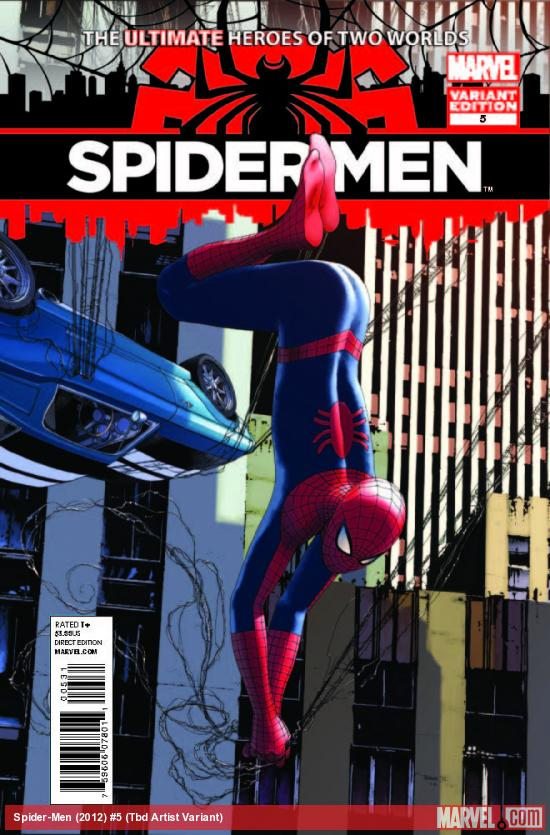SPIDER-MEN 5 CHAREST VARIANT (1 FOR 30, WITH DIGITAL CODE)