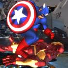 Screenshot of Captain America vs. Iron Man in Marvel Avengers: Battle for Earth