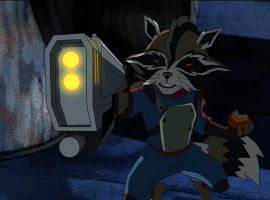 Rocket Raccoon guests stars in Marvel's Ultimate Spider-Man