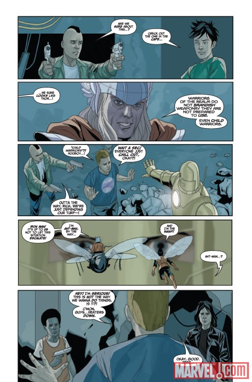 AVENGERS: THE ORIGIN #2 preview art by Phil Noto